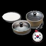 German Pool KPH-SET2 Korean Detachable-Handle Non-stick Pan & Pot Set