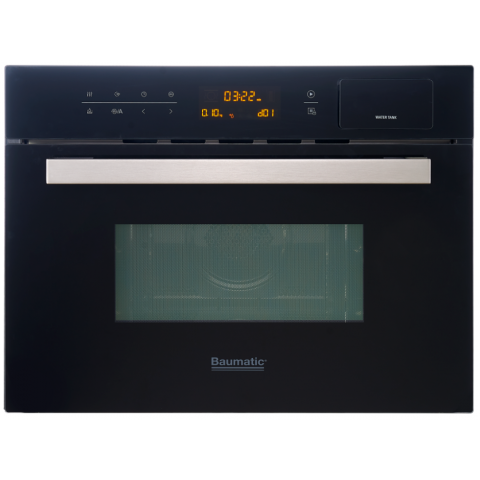 Baumatic BSMC456BGL 34公升 60厘米 黑魂系列 嵌入式四合一燒烤微波蒸焗爐