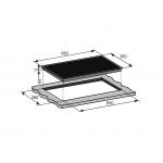 Baumatic BHIC243 68厘米 內置式水晶玻璃電磁及電陶爐