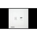 Siemens 西門子 5UH13633PC01 電話插座 RJ11 + 電腦插座 RJ45(白)