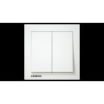 Siemens 西門子 5TA13213PC01 10AX 雙位單控開關掣 (白色)