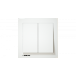 Siemens 西門子 5TA13233PC01 10AX 雙位雙控開關掣 (白)