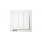 Siemens 西門子 5TA13333PC01 10AX 三位雙控開關掣 (白)
