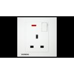 Siemens 西門子 5UB13133PC01 13A 單位開關插座(帶霓虹燈指示器)(白)