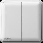 Siemens 西門子 5TA01213PC01 10AX 雙位單控開關掣 (白色)
