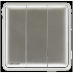 Siemens 西門子 5TA01313PC02 10AX 三位單控開關掣 (銀)