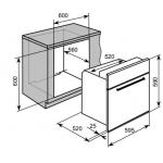 Baumatic BMO611BL 55公升 60厘米 黑魂系列 嵌入式低深度對流焗爐