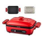 Ocooker 圈廚 CR-LL01T-A-RD 1000W 多功能煎烤盤 連煎架配件 (紅色)