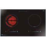 Garwoods 英國樂思 EC-2989 BK 75厘米 2合1 座檯/嵌入式電磁+電陶爐 (鑽黑玻璃)
