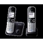 Panasonic 樂聲 KX-TG6812HK DECT數碼室內無線電話 (黑色)