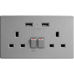 M2K AP202AL4-G 4.2A 雙USB充電面板 (牆紙紋系列) (太空灰)