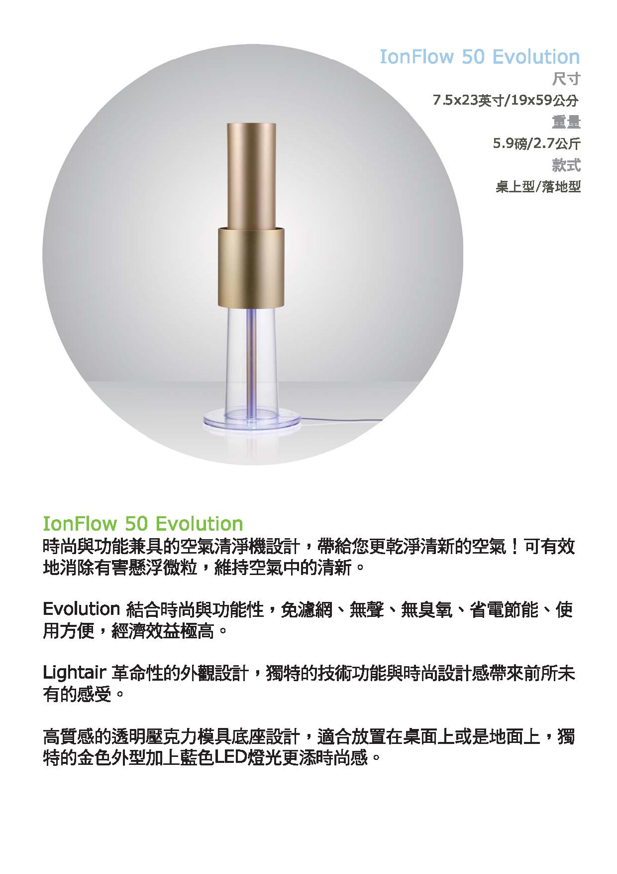 Lightair IonFlow 50 Evolution Gold 空氣清新機 (建議使用面積 540尺)