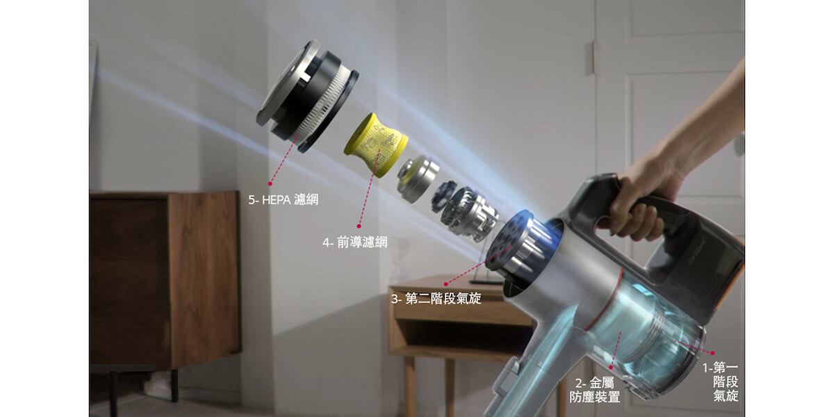 LG 樂金 A958VA CordZero™ A9 無線直立式吸塵機 (韓國製造, 酒紅色 – 雙電池版)